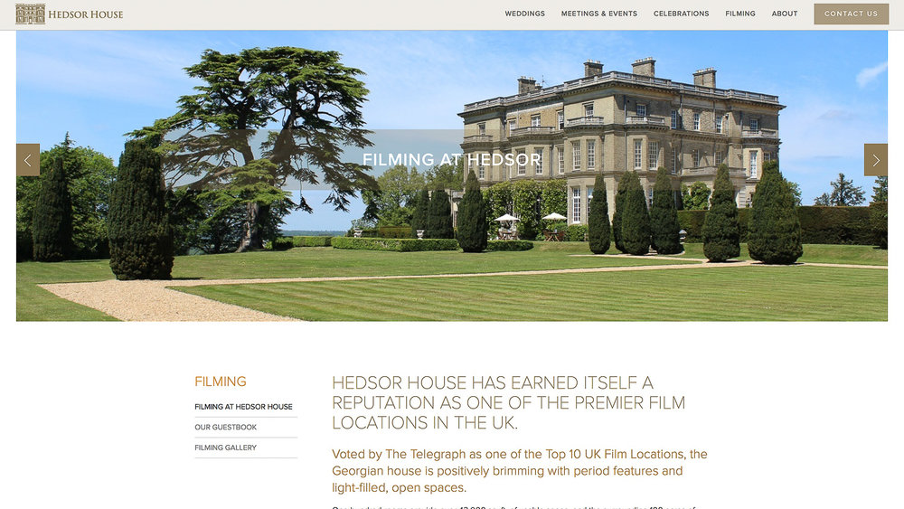 HEDSOR HOUSE - LUXURY COUNTRY HOUSE AND FILM LOCATION