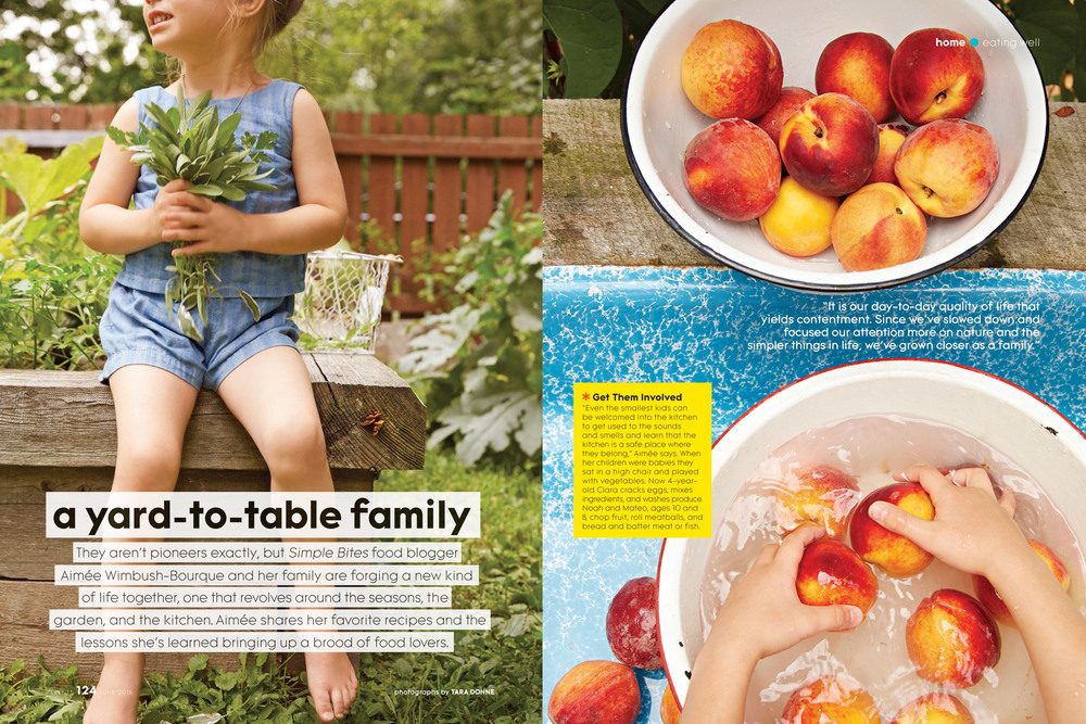 Kids, children in the garden and washing seasonal produce
