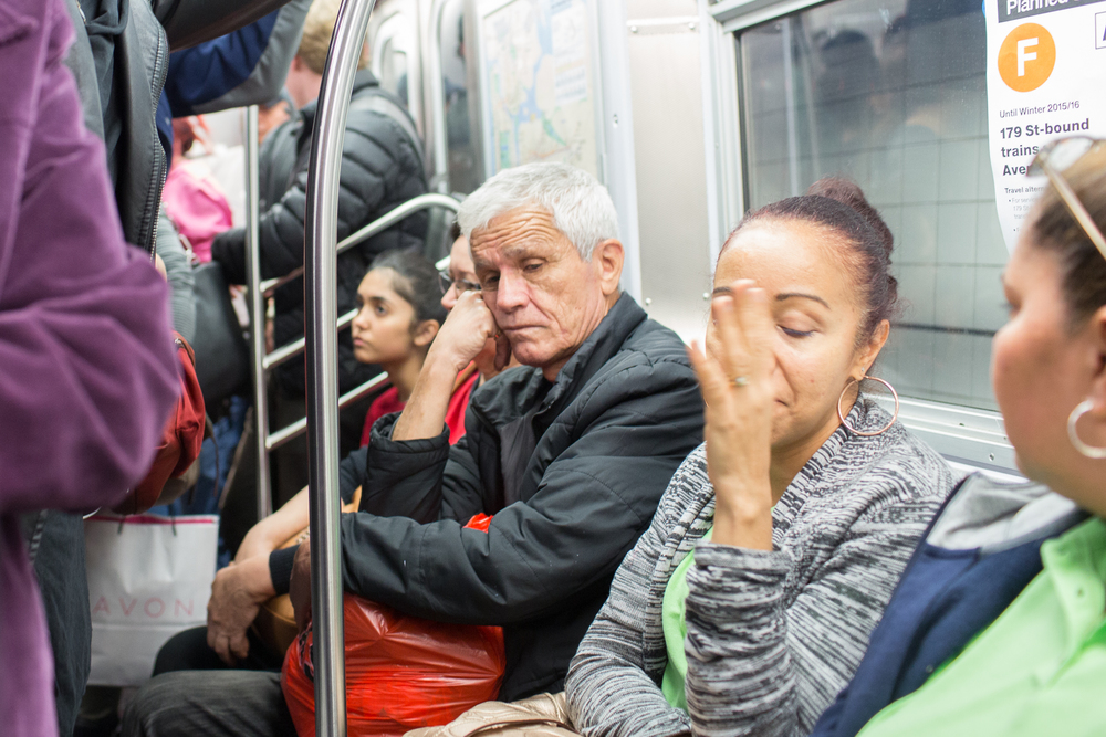 The long grueling train rides in N.Y. on Oct. 22, 2015.