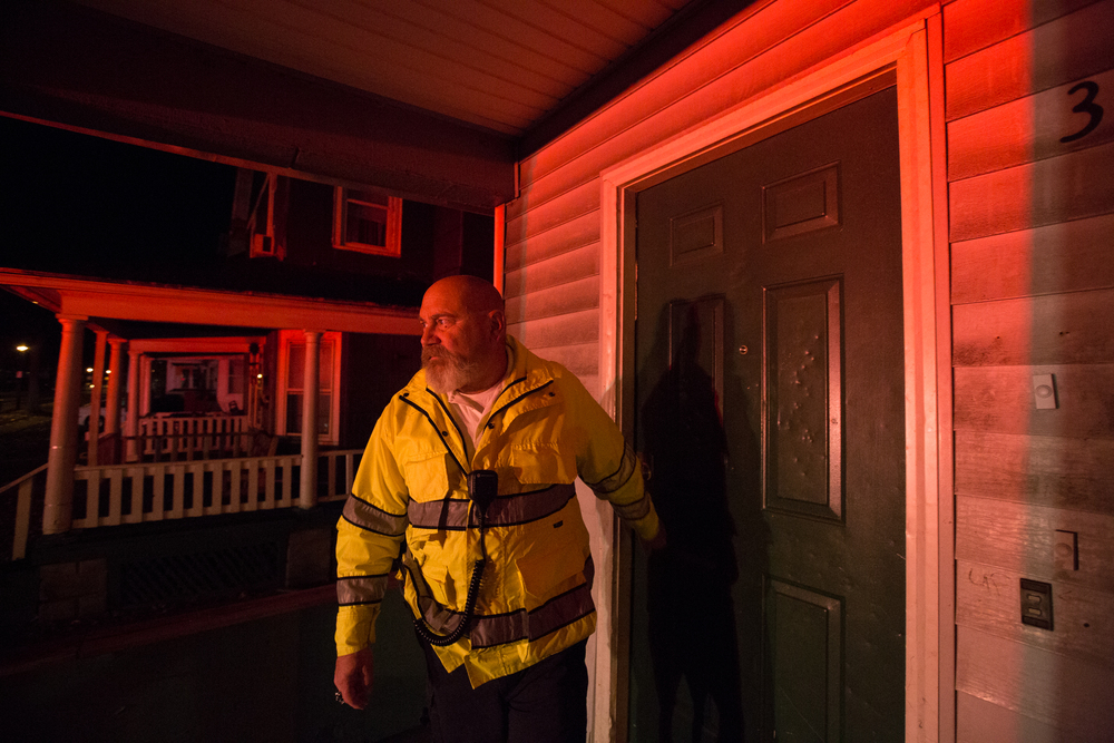Lee Frisbee (cq), Ambulance Supervisor, out on call in Rochester, N.Y. on Nov. 8, 2015.