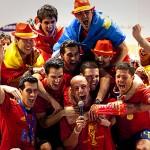 Celebración Selección Española