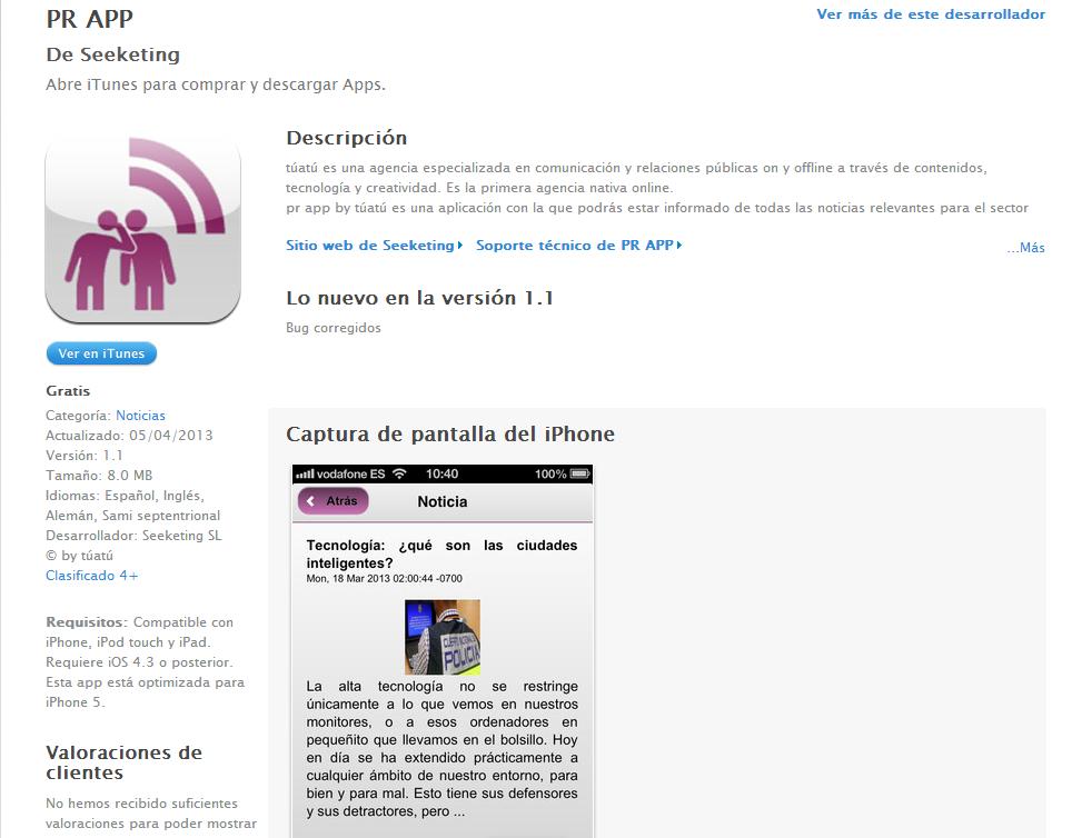 Tecnología: ya disponible la app para móvil de Tú & Tú