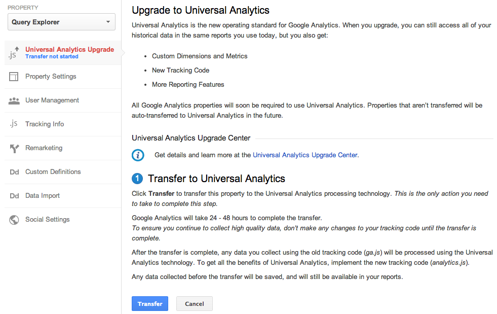 google analytics universal