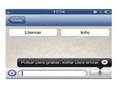 whatsapp voz