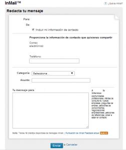 mensaje inmail