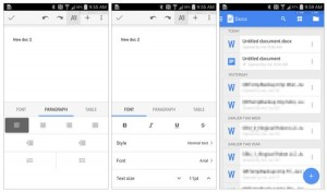 GoogleDocs y sheets