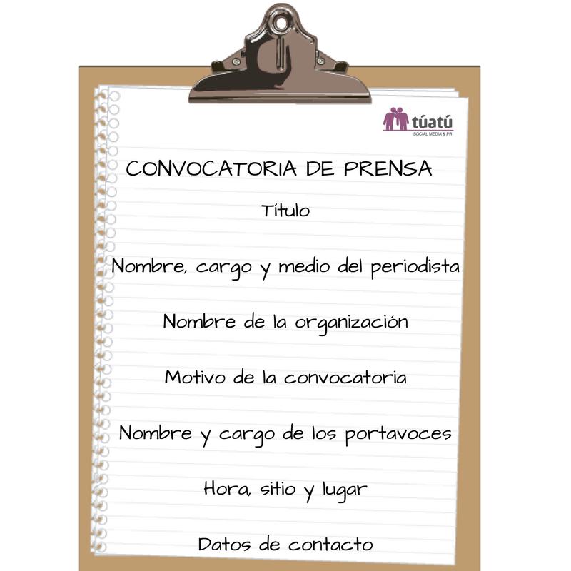 Agencia de comunicación: Convocatoria de prensa