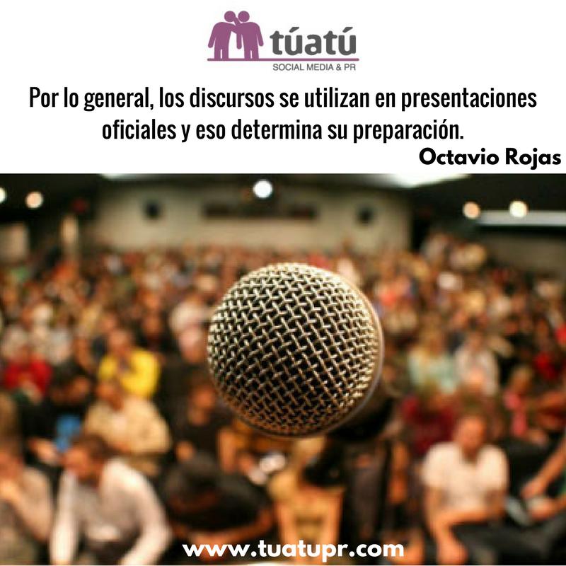 Agencia de comunicación: Discursos