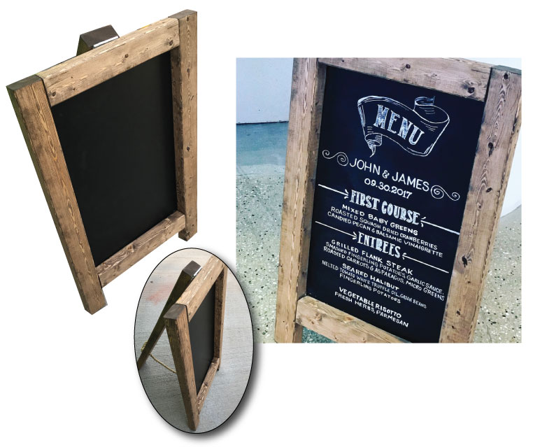 Charming, sturdy brown sandwich board. $20 | #B0056 | Qty. in stock: 1
