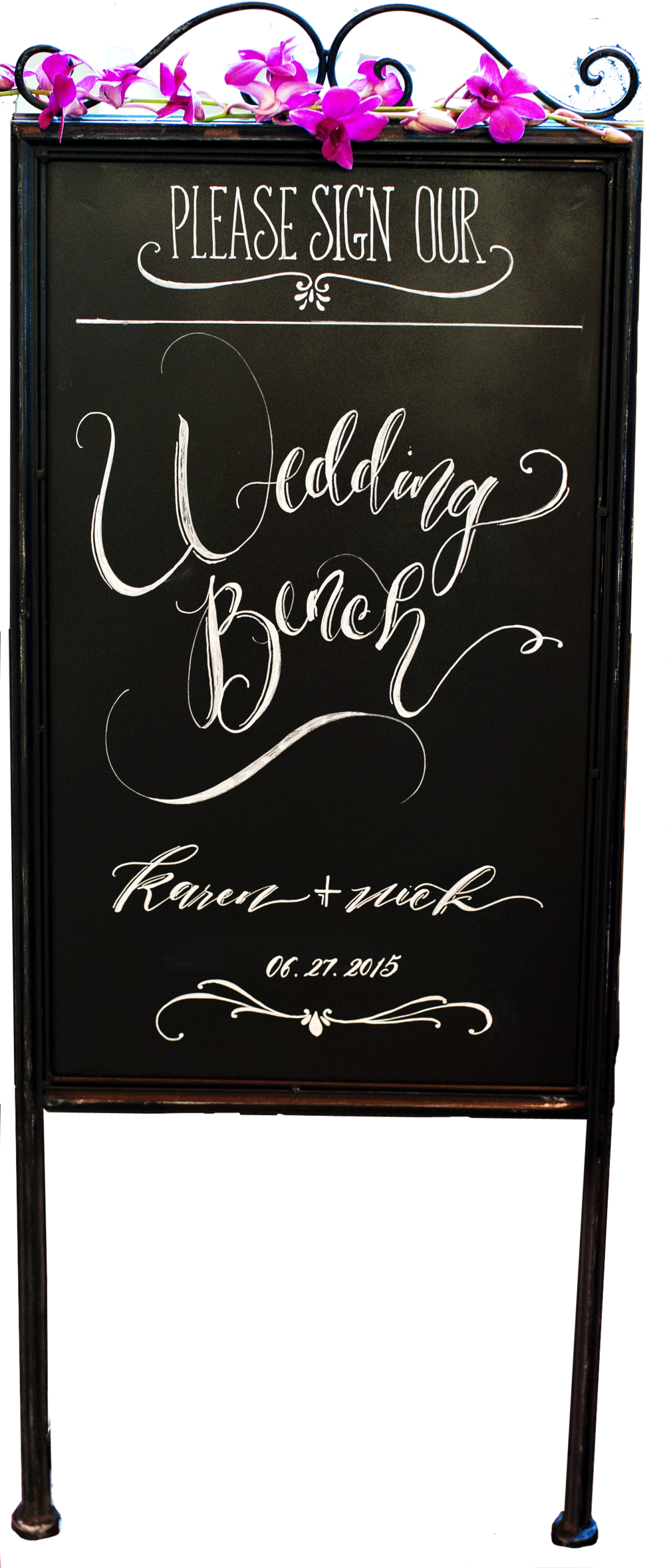 Metal chalkboard sandwich board. 2-sided. $25 | Item #A009 | Qty. in stock: 1