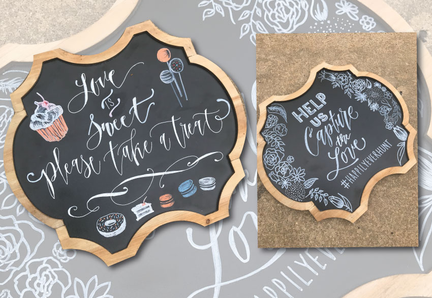 "14"" x 10"" bracket shaped chalkboards. Great for identifying a station... $15 ea 