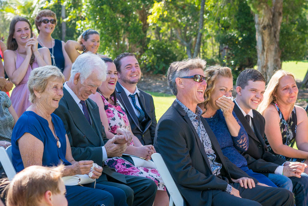 Wedding Guests being truely present