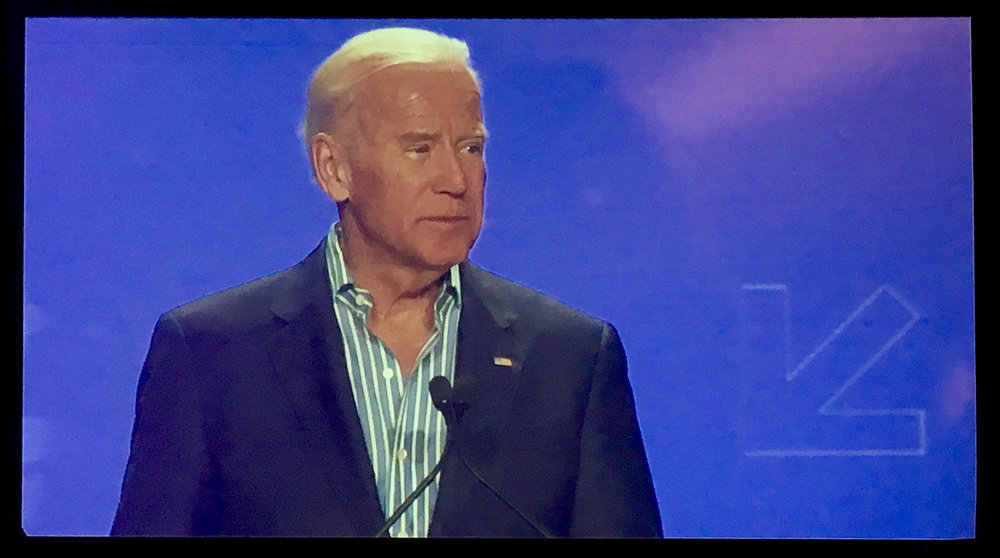 Former VP Joe Biden spoke movingly about his son