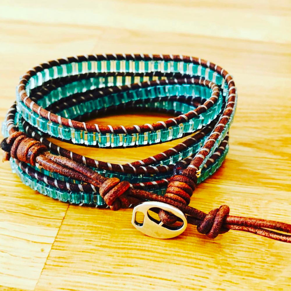 Teal Wrap Bracelet - Bracelet Boss, Kathryn King Designs