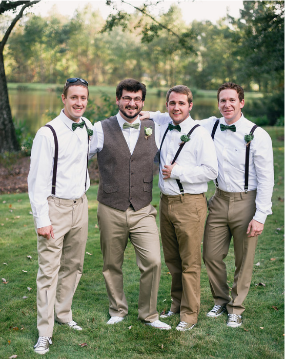 Mike, Myself, Jake, and Justin at my wedding.