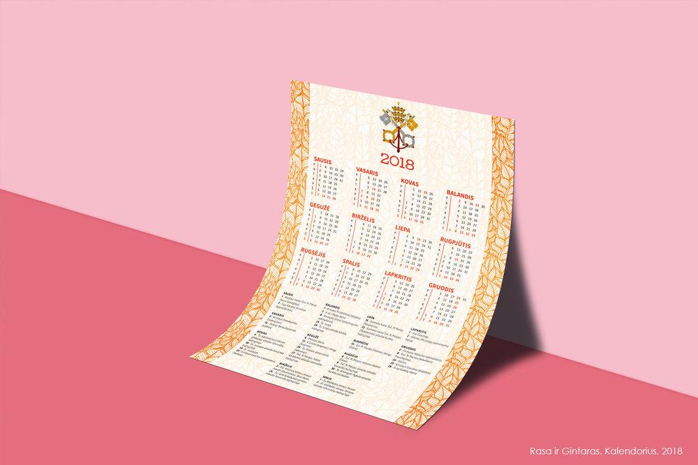 Kalendoriaus dizaino darbai