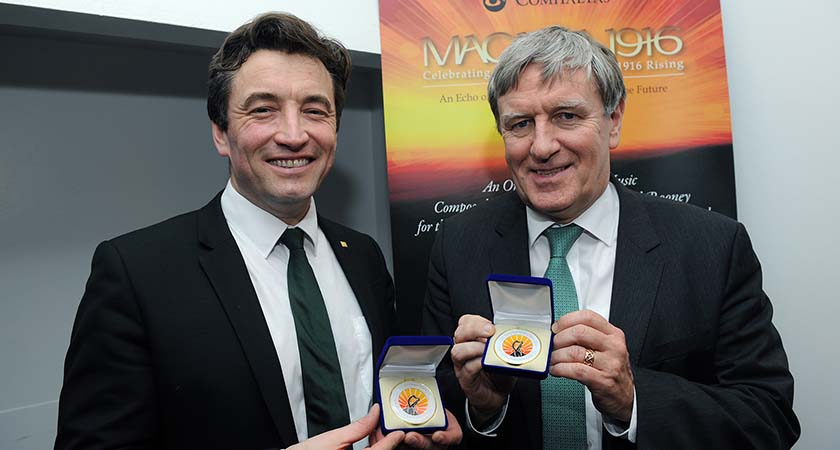 Ambassador Dan Mullhall and John Concannon.  Photo by  Malcolm McNally