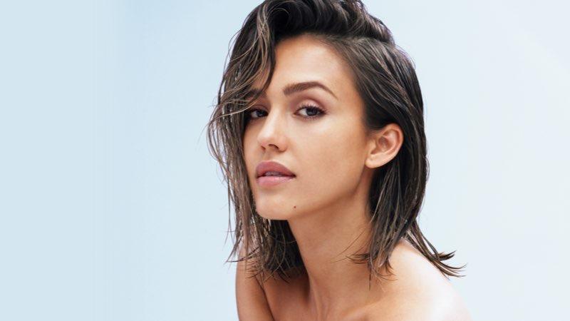 "Jessica Alba - celeb trend of ""no makeup"" looking makeup lines."
