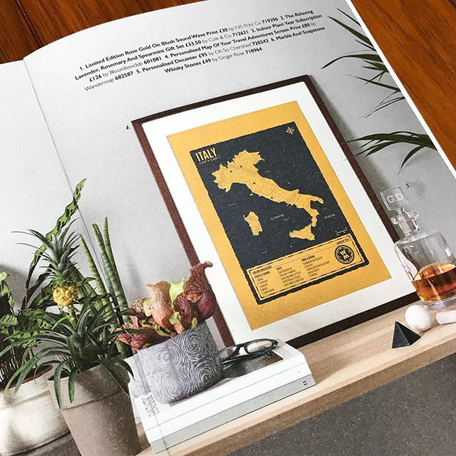 Check out the feature of Wandermap in @notonthehighstreet latest gift guide! #personalised #travel #map #screenprinting #honeymoon