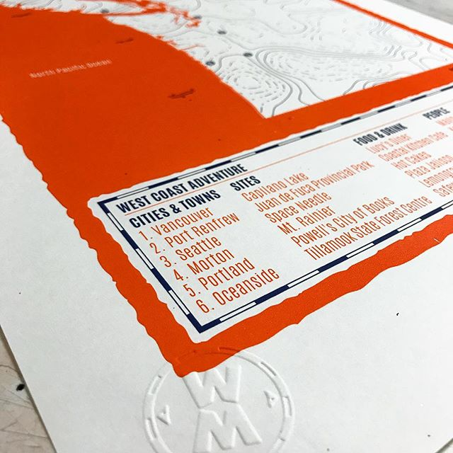 Fresh print of the West Coast, USA! @russpook your print will be with you Monday! #personalised #screenprinting
