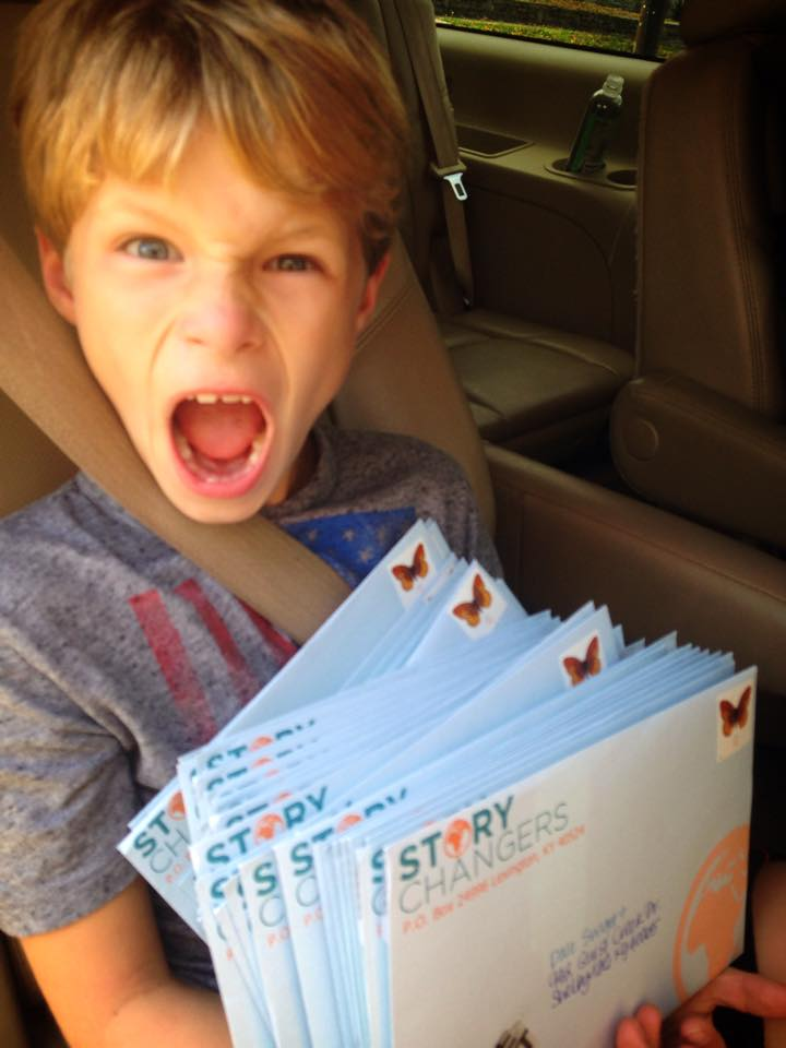 Jack, excited to be mailing Share Kits to hundreds of families all across the United States!