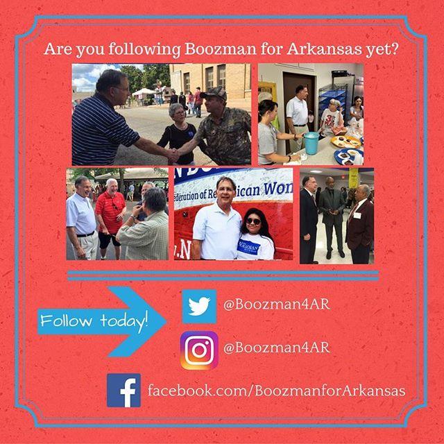 Go follow @boozman4ar to show your support!  #ARGOP #arpx #Republican #GOP #Senate #election #arkansas
