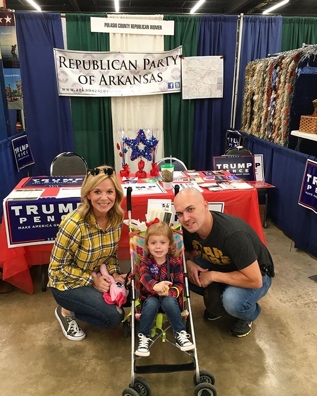Never too young to get involved! #ARGOP booth at the AR state fair.  #arstatefair #vote #republican #republicanparty #GOP #arkansas