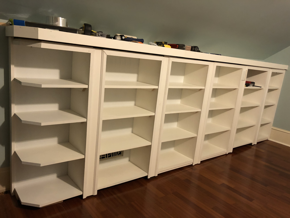 Bookcase with hidden door - It's the 3rd section from left