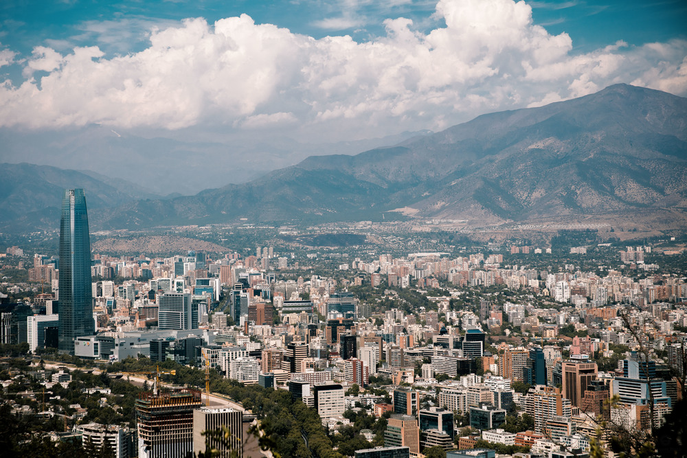 Santiago city view