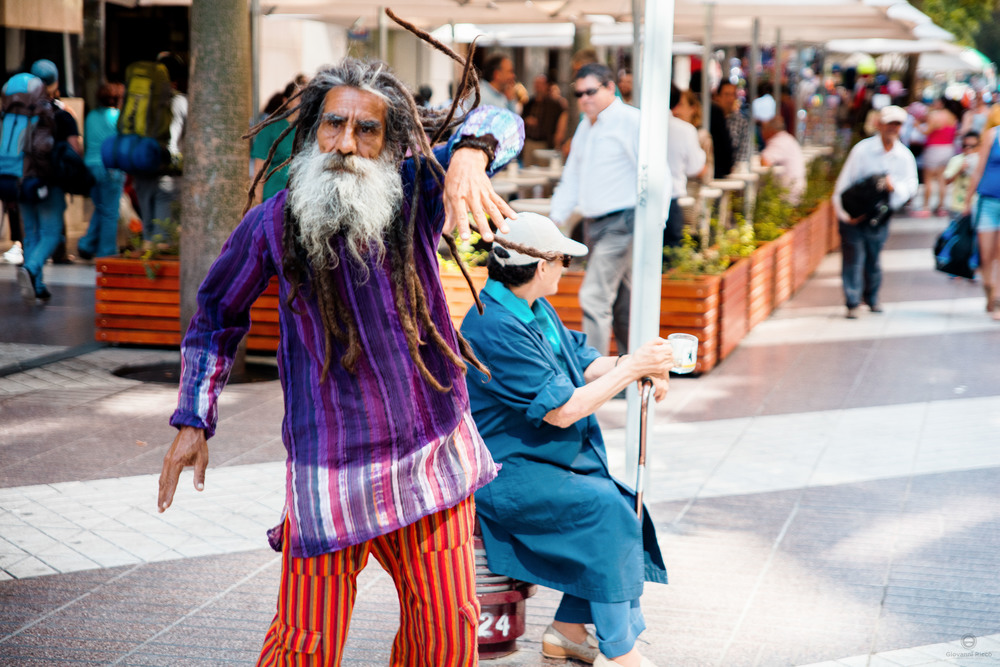 Street Performer in Santiago