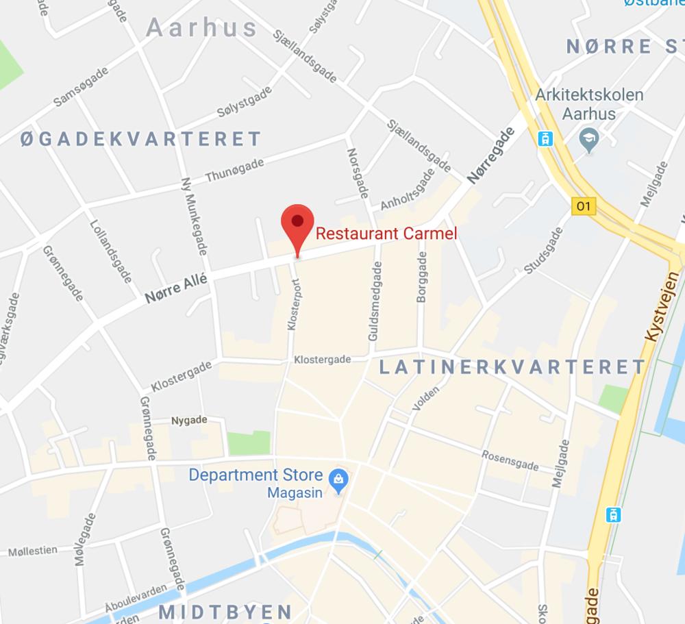 Sunday - Huset Carmel,Nørre Allé 23C, 8000 Århus C
