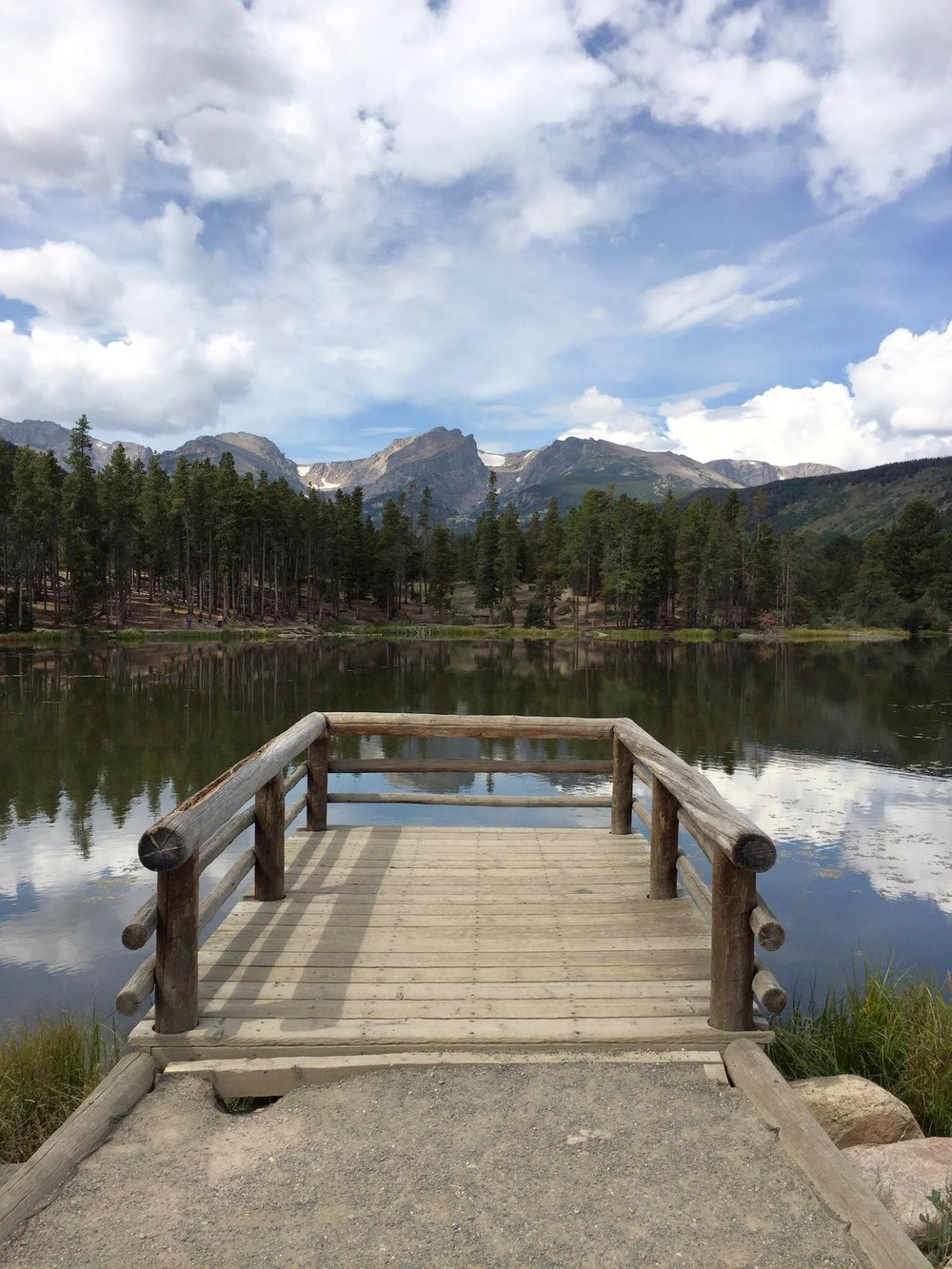 Sprague Lake offers great reflections.