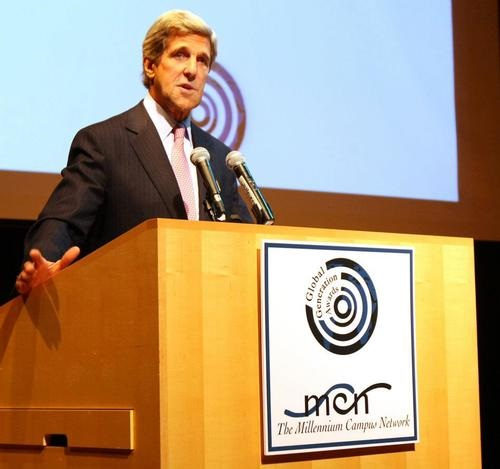 """""""This Millennium Campus Network is critical to our future. You have to believe in your power....I am counting on the Millennium Campus Network to be this generation's stewards of that [civil rights] legacy.""""       — US Secretary of State John Kerry"""