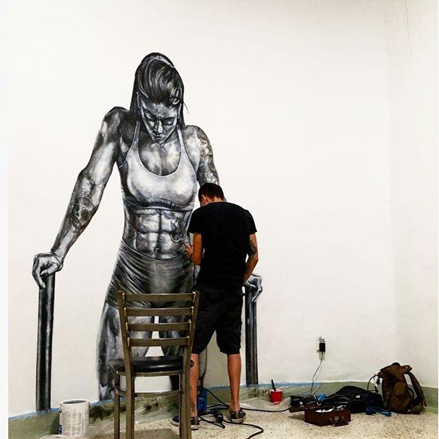 Artist at work! Mural of @massy.arias .... . . . . . . #drawing #sketch #pencil #modernart #artgallery #sketch_daily #artfido #worldofartist #art_worldy #painting #illustration #art #artist #art_4_share #sketchbook #follow #graffiti #graffitiart #followme #draw #igers #instadaily #bestoftheday #fashionillustration #blackbook #artist_features #artshoutout #sketch_daily #blvart