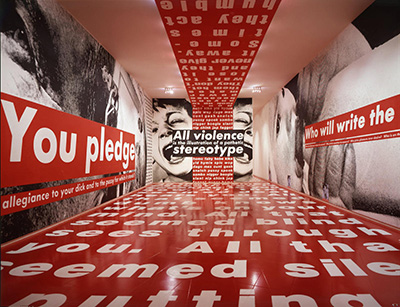 Barbara Kruger Mary Boone Gallery, installation shot 1991