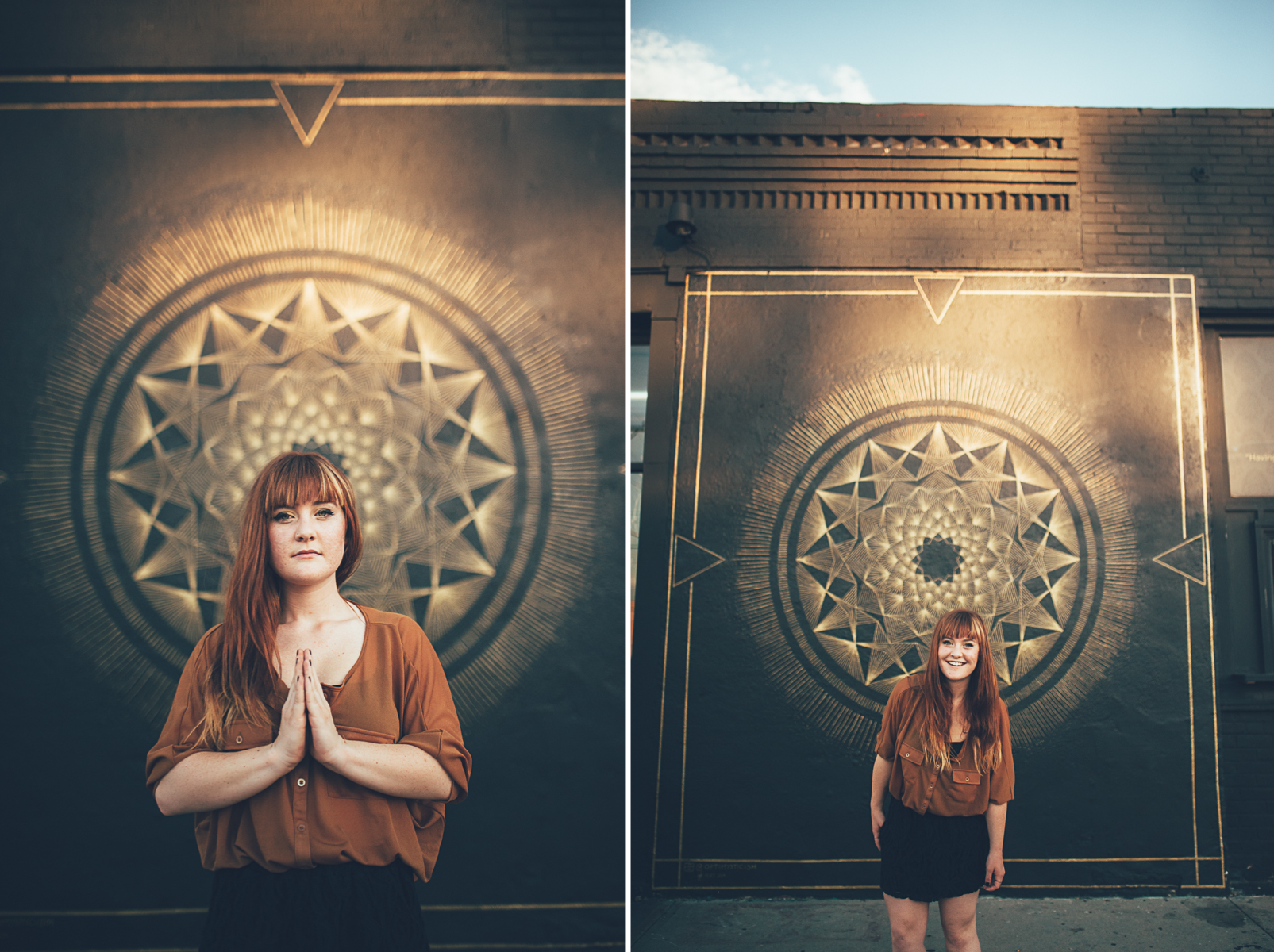 Gorgeous urban high school senior photos by Tara Polly Photography
