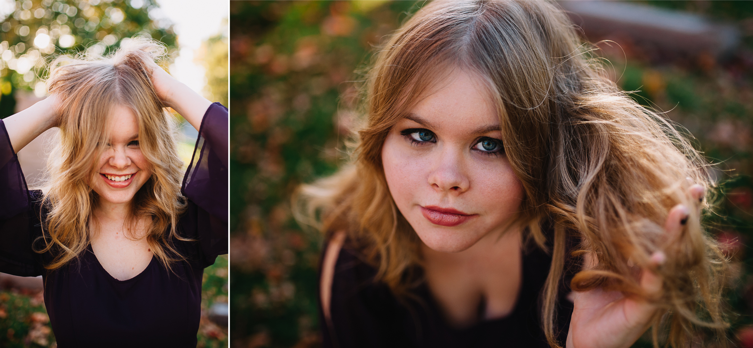 Flower child high school senior photo session in Lincoln, Nebraska by Tara Polly Photography.