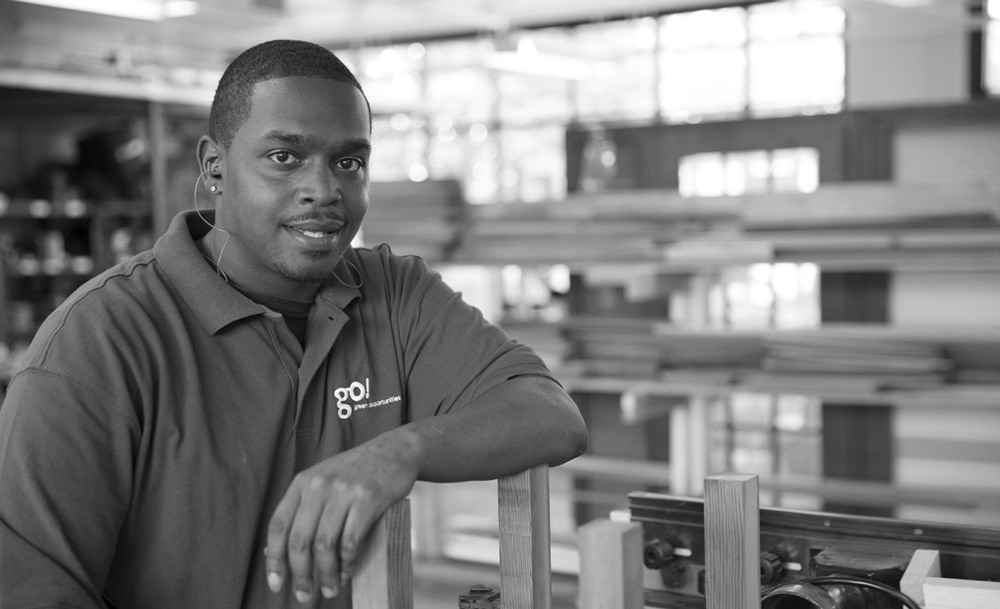 Eric Howell, GO training program graduate and co-founder of Southside Woodworks