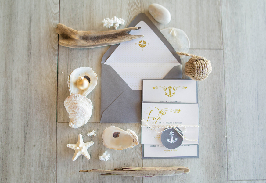 Virginia Beach, Hampton Roads wedding invitations