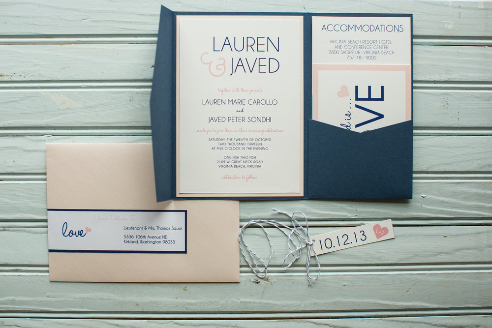 WEDDING INVITATIONS — PaperDolls Design