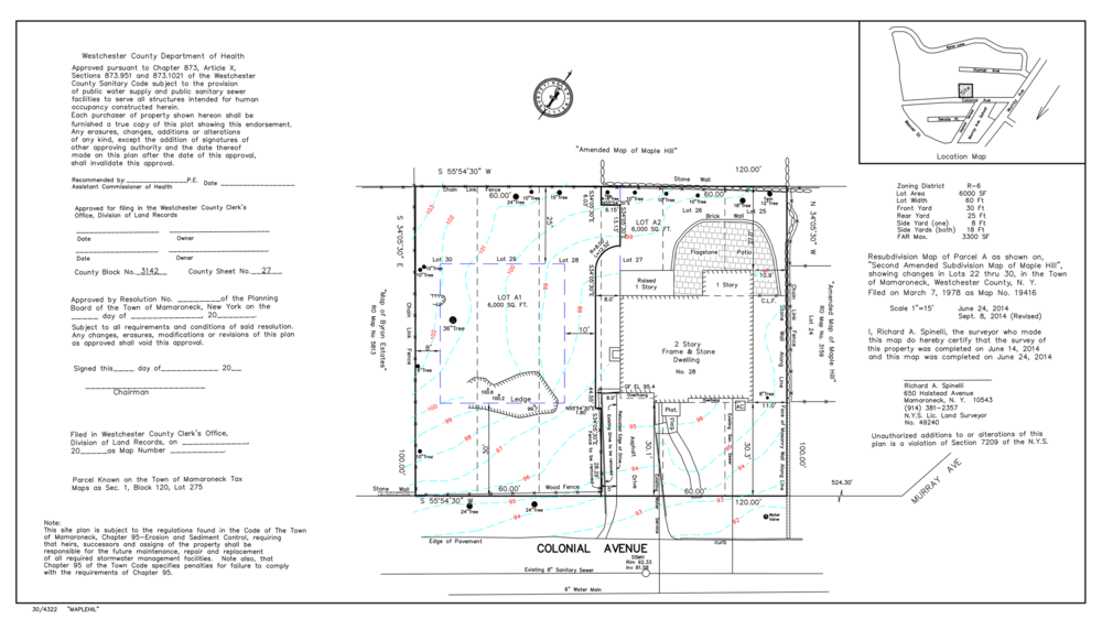 Samples Of Our Work Spinelli Surveying - Property line survey map