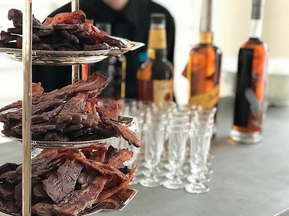 Bacon and Bourbon Bar.