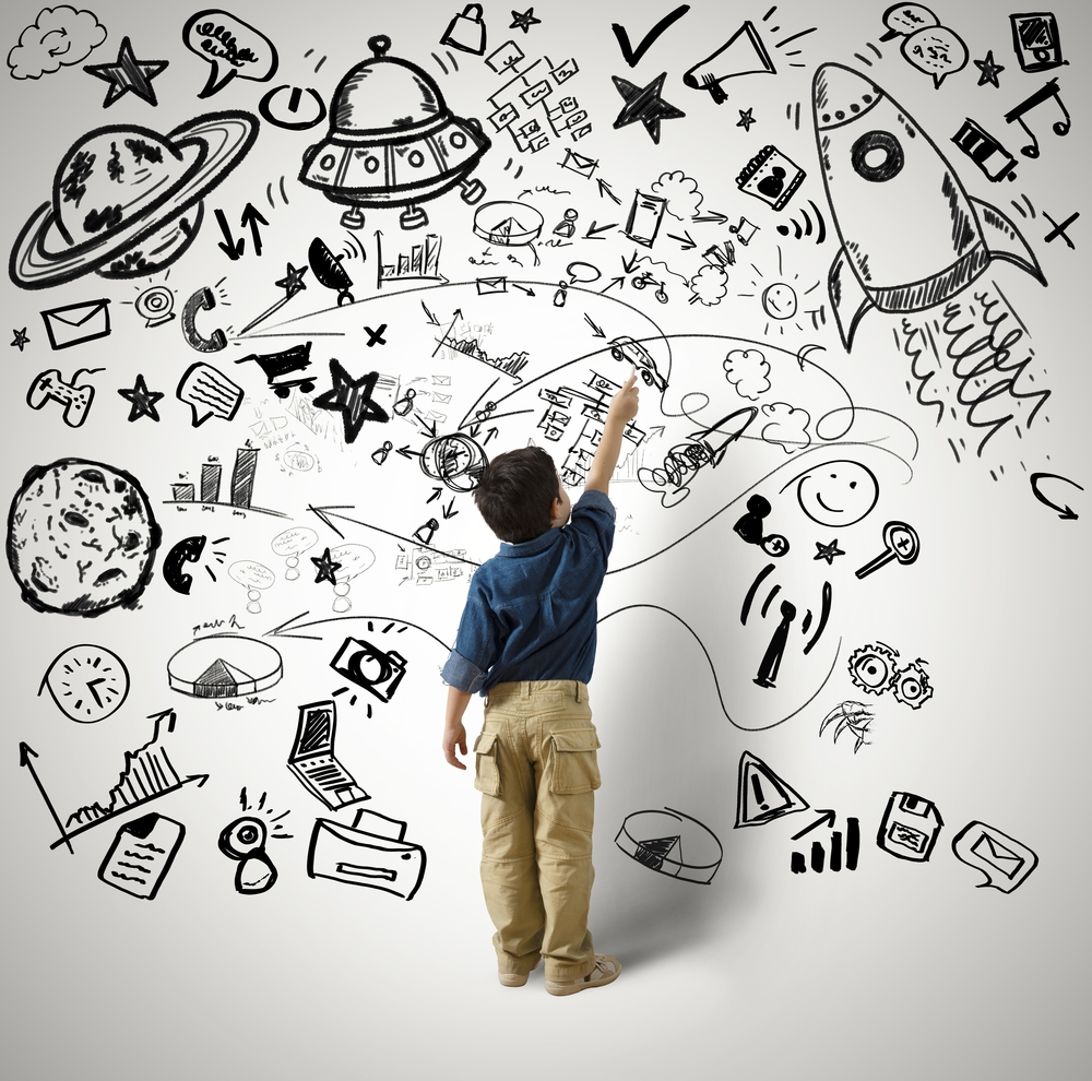 Visual Imagination, Concept of small genius | Alphaspirit on Shutterstock