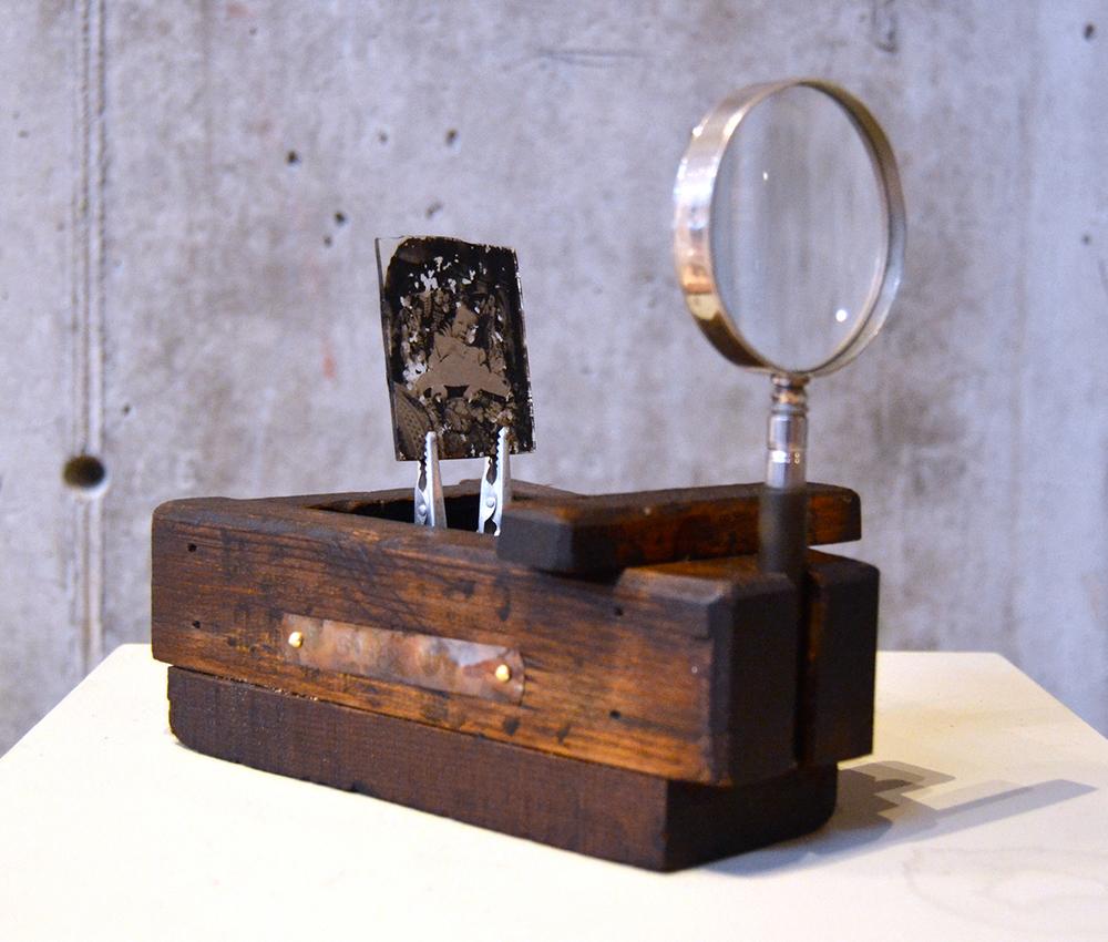 010 – Optiparalleloscope II,  2014 Mixed media 7 x 8 x 5 inches
