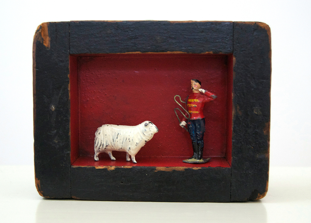 046 – Shepherd,  2014 Mixed media 4.5 x 6 x 2 inches