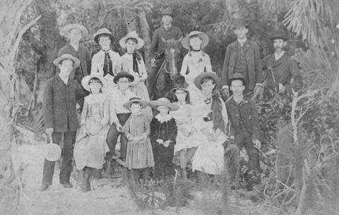 Browning and Whitaker families at Cedar Point (now Golden Gate Point), ca.1886. Credit: Sarasota County Historical Resources