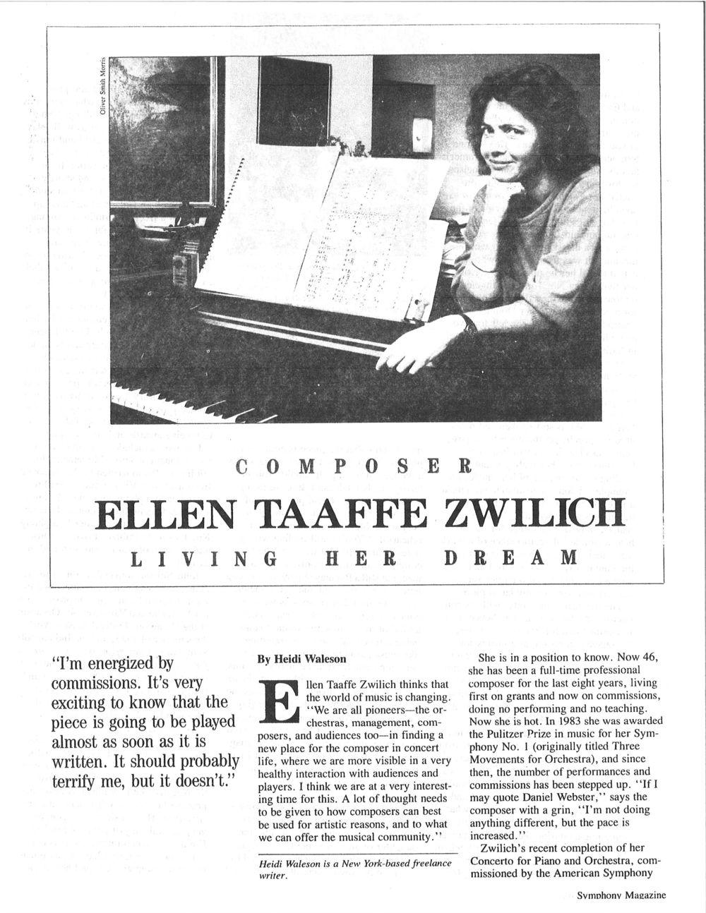 Symphony Magazine Article
