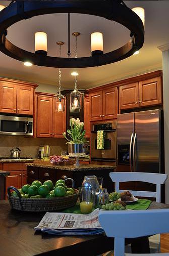 Colorful Transitional Kitchen design by LMC Interior Designs www.lmcinteriordesigns.com