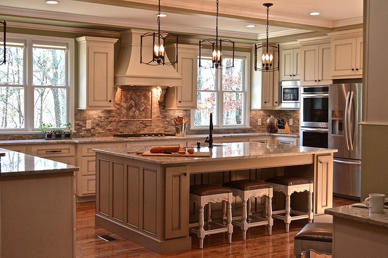 Neutral Transitional Kitchen Designed by LMC Interior Designs www.lmcinteriordesigns.com