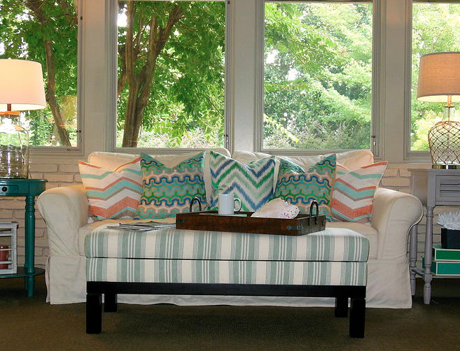 Coastal Family Room designed by LMC Interior Designs www.lmcinteriordesigns.com
